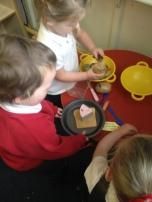Exploring textures of food.